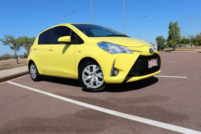 Pre-Owned Toyota Yaris NCP131R SX Palmerston, 2017 Toyota Yaris NCP131R SX Vivid Yellow 5 Speed Manual Hatchback