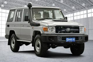2021 Toyota Landcruiser VDJ76R Workmate Silver 5 Speed Manual Wagon.