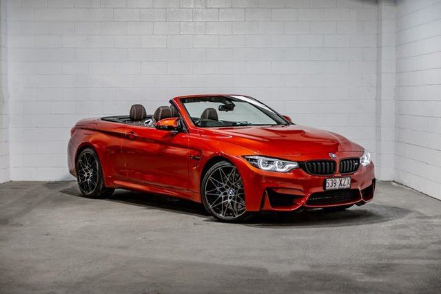 Used BMW M4 F83 LCI Competition M-DCT Southport, 2018 BMW M4 F83 LCI Competition M-DCT Orange 7 Speed Sports Automatic Dual Clutch Convertible
