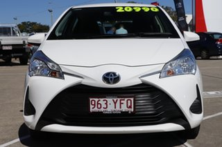 2018 Toyota Yaris NCP130R Ascent Glacier White 4 Speed Automatic Hatchback