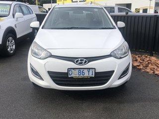 2014 Hyundai i20 PB MY15 Active Polar White 6 Speed Manual Hatchback.