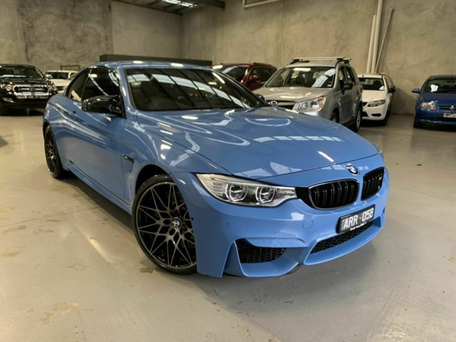Used BMW M4 F83 Competition M-DCT Coburg North, 2016 BMW M4 F83 Competition M-DCT Blue 7 Speed Sports Automatic Dual Clutch Convertible