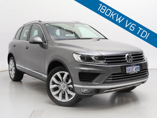 2015 Volkswagen Touareg 7P MY15 V6 TDI Grey 8 Speed Automatic Wagon.