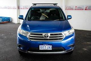 2011 Toyota Kluger GSU45R MY11 Upgrade KX-R (4x4) 7 Seat Tidal Blue 5 Speed Automatic Wagon.