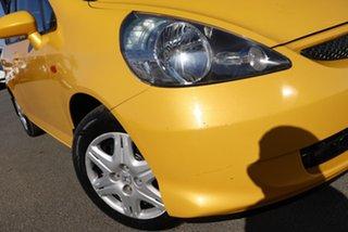 2007 Honda Jazz GD GLi Helios Yellow 5 Speed Manual Hatchback.