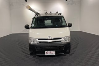 2011 Toyota HiAce KDH201R MY11 LWB White 5 speed Manual Van.