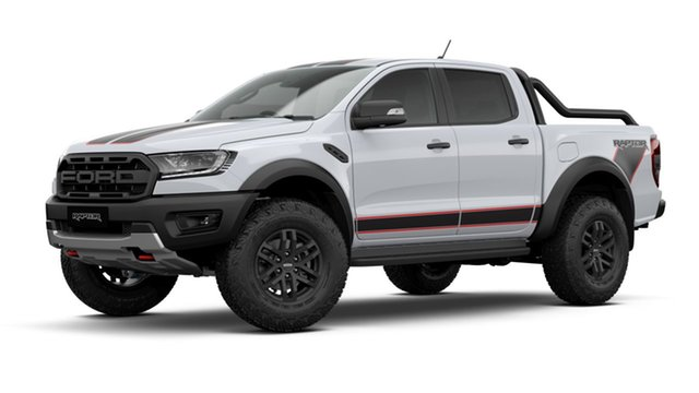 New Ford Ranger Raptor X Pick-up Double Cab Totness, 2021 Ford Ranger PX MKIII 2021.7 Raptor X Pick-up Double Cab Arctic White 10 Speed SMF
