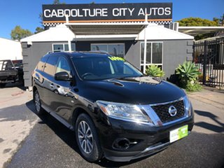 2014 Nissan Pathfinder R52 ST (4x2) Black Continuous Variable Wagon.