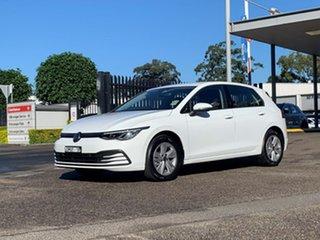 2021 Volkswagen Golf 8 MY21 110TSI White 6 Speed Manual Hatchback.