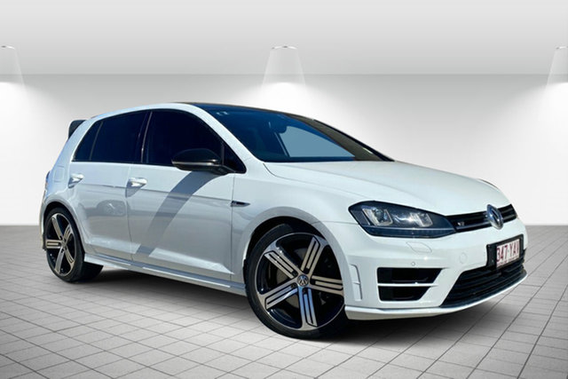 Used Volkswagen Golf VII MY16 R DSG 4MOTION Hervey Bay, 2016 Volkswagen Golf VII MY16 R DSG 4MOTION White 6 Speed Sports Automatic Dual Clutch Hatchback