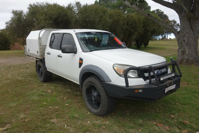 Used Ford Ranger PK XL Crew Cab East Maitland, 2009 Ford Ranger PK XL Crew Cab White 5 Speed Manual Cab Chassis