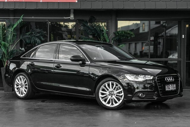 Used Audi A6 4G MY13 Multitronic Bowen Hills, 2013 Audi A6 4G MY13 Multitronic Black 1 Speed Constant Variable Sedan