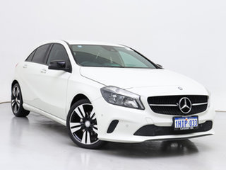 2017 Mercedes-Benz A180 176 MY17 White 7 Speed Automatic Hatchback.