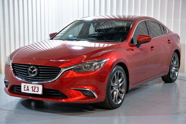 Used Mazda 6 GJ1031 Atenza SKYACTIV-Drive Hendra, 2014 Mazda 6 GJ1031 Atenza SKYACTIV-Drive Red 6 Speed Sports Automatic Sedan