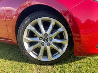 2015 Mazda 3 BM5438 SP25 SKYACTIV-Drive GT Soul Red/white Leather 6 Speed Sports Automatic Hatchback.