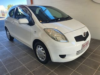 2007 Toyota Yaris NCP90R YR White 4 Speed Automatic Hatchback