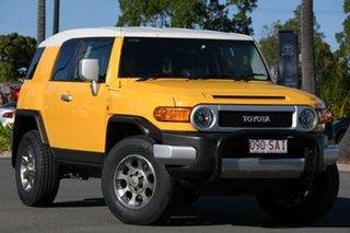 2012 Toyota FJ Cruiser GSJ15R Yellow 5 Speed Automatic Wagon.