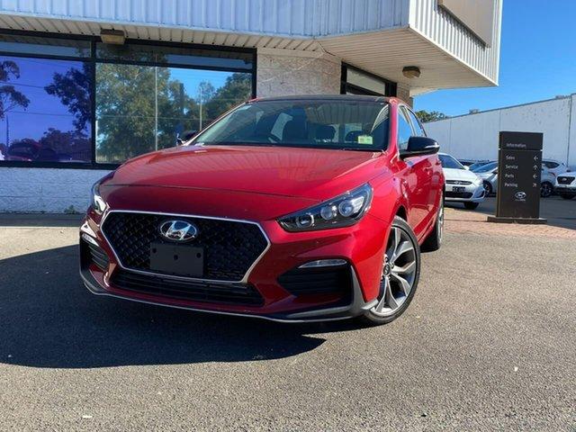 Demo Hyundai i30 PD.V4 MY21 N Line D-CT Premium Penrith, 2020 Hyundai i30 PD.V4 MY21 N Line D-CT Premium Fiery Red 7 Speed Sports Automatic Dual Clutch
