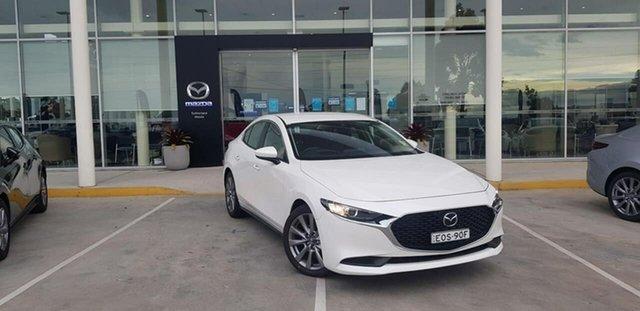 Demo Mazda 3 BP G25 Evolve Kirrawee, 2020 Mazda 3 BP G25 Evolve Snowflake White Pearl 6 Speed Automatic Sedan