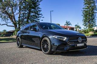 2018 Mercedes-Benz A-Class W177 A200 DCT Black 7 Speed Sports Automatic Dual Clutch Hatchback.