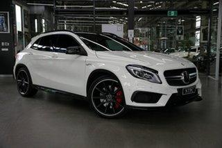 2015 Mercedes-Benz GLA-Class X156 806MY GLA45 AMG SPEEDSHIFT DCT 4MATIC White 7 Speed.