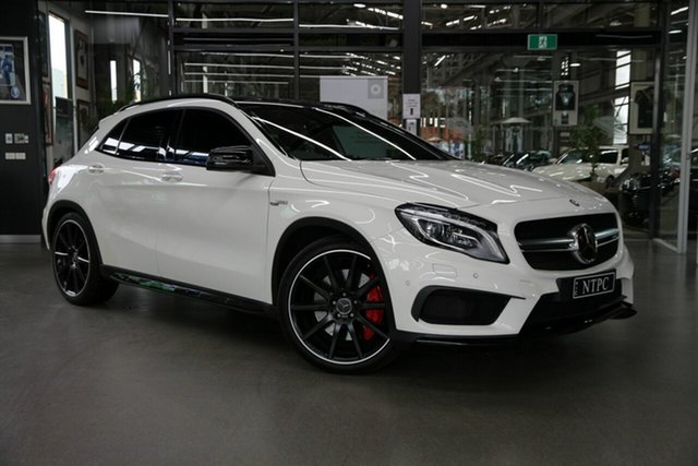 Used Mercedes-Benz GLA-Class X156 806MY GLA45 AMG SPEEDSHIFT DCT 4MATIC North Melbourne, 2015 Mercedes-Benz GLA-Class X156 806MY GLA45 AMG SPEEDSHIFT DCT 4MATIC White 7 Speed