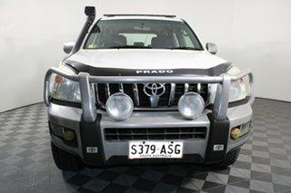 2008 Toyota Landcruiser Prado KDJ120R GXL White 5 Speed Automatic Wagon.