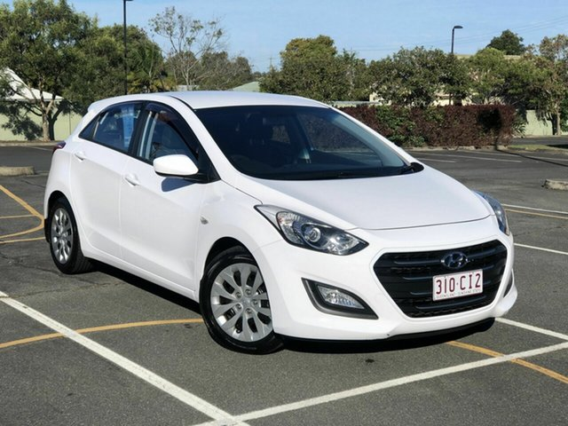 Used Hyundai i30 GD3 Series II MY16 Active DCT Chermside, 2015 Hyundai i30 GD3 Series II MY16 Active DCT White 7 Speed Sports Automatic Dual Clutch Hatchback