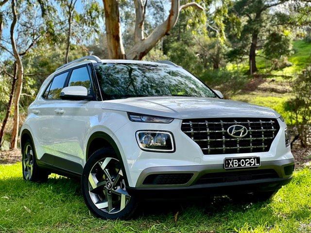 Demo Hyundai Venue QX.V3 MY21 Elite (Sunroof) Reynella, 2021 Hyundai Venue QX.V3 MY21 Elite (Sunroof) Polar White 6 Speed Automatic Wagon