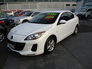 2012 Mazda 3 MAXX White 5 Speed Manual Sedan.