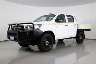 2016 Toyota Hilux GUN126R SR (4x4) White 6 Speed Automatic Dual Cab Chassis.