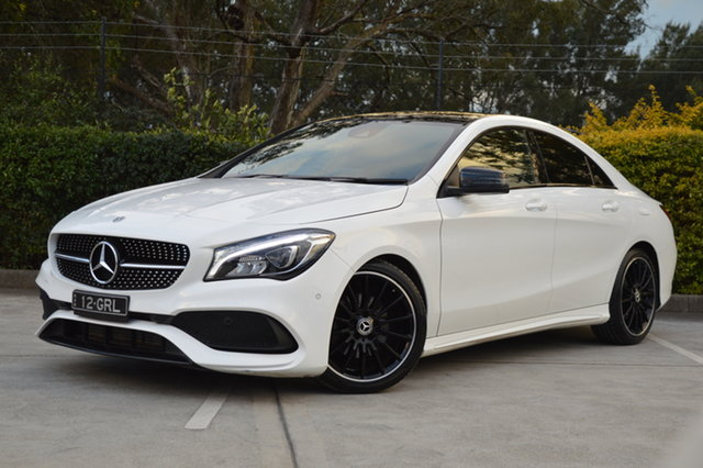 Used Mercedes-Benz CLA-Class C117 808+058MY CLA200 DCT Maitland, 2018 Mercedes-Benz CLA-Class C117 808+058MY CLA200 DCT White 7 Speed Sports Automatic Dual Clutch