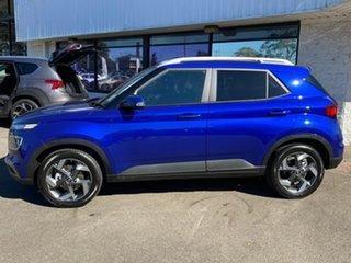 2021 Hyundai Venue QX.V3 MY21 Elite Intense Blue & Black Roof 6 Speed Automatic Wagon.