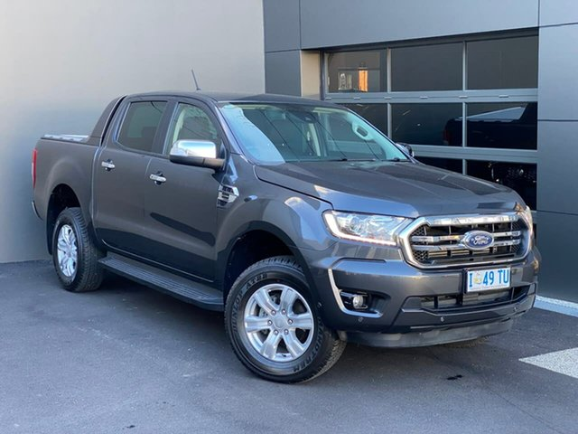Used Ford Ranger PX MkIII 2019.00MY XLT Hobart, 2019 Ford Ranger PX MkIII 2019.00MY XLT Grey 10 Speed Sports Automatic Double Cab Pick Up
