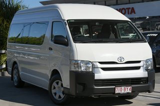 2016 Toyota HiAce KDH223R Commuter High Roof Super LWB French Vanilla 4 Speed Automatic.