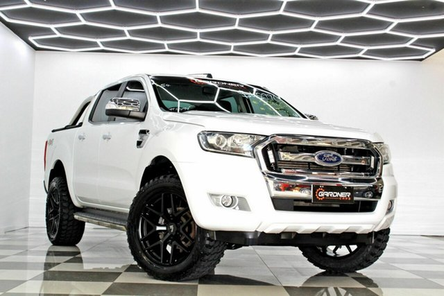 Used Ford Ranger PX MkII MY17 XLT 3.2 (4x4) Burleigh Heads, 2016 Ford Ranger PX MkII MY17 XLT 3.2 (4x4) White 6 Speed Automatic Double Cab Pick Up