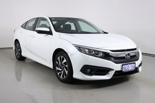 2017 Honda Civic MY17 VTi-S White Continuous Variable Hatchback.