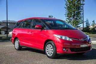2017 Toyota Tarago ACR50R GLi Red 7 Speed Constant Variable Wagon.