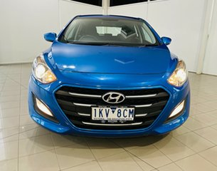 2016 Hyundai i30 GD4 Series II MY17 Active DCT Blue 7 Speed Sports Automatic Dual Clutch Hatchback.