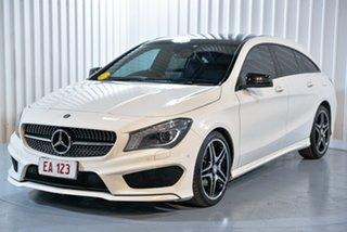 2015 Mercedes-Benz CLA-Class X117 CLA200 CDI Shooting Brake DCT White 7 Speed.