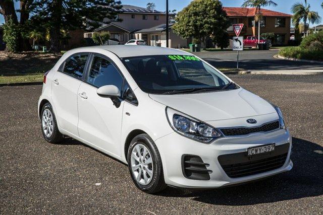 Used Kia Rio UB MY15 S Port Macquarie, 2014 Kia Rio UB MY15 S Clear White 4 Speed Sports Automatic Hatchback
