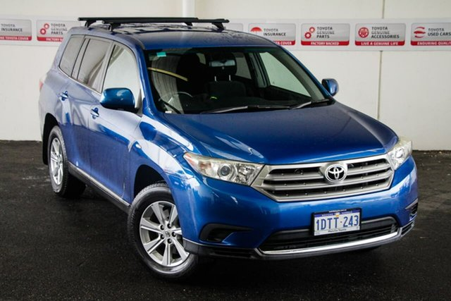 Pre-Owned Toyota Kluger GSU45R MY11 Upgrade KX-R (4x4) 7 Seat Rockingham, 2011 Toyota Kluger GSU45R MY11 Upgrade KX-R (4x4) 7 Seat Tidal Blue 5 Speed Automatic Wagon