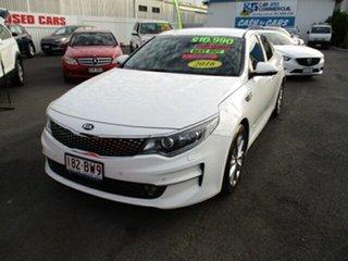 2016 Kia Optima SI White 4 Speed Automatic Sedan.