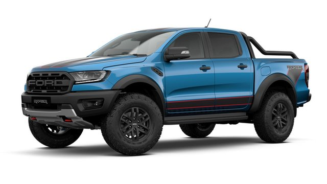 New Ford Ranger PX MkIII 2021.75MY Raptor X Pick-up Double Cab Townsville, 2021 Ford Ranger PX MkIII 2021.75MY Raptor X Pick-up Double Cab Performance Blue 10 Speed
