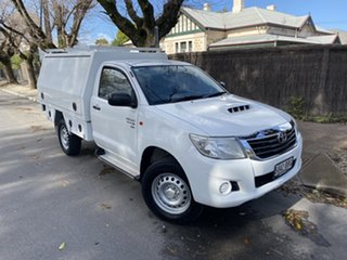 2013 Toyota Hilux KUN26R MY12 SR White 5 Speed Manual Cab Chassis.
