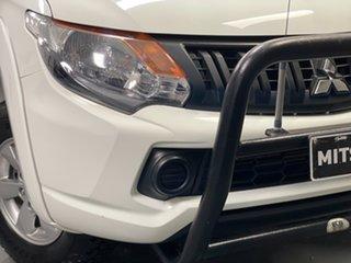 2017 Mitsubishi Triton MQ MY18 GLX+ Double Cab White 6 Speed Manual Utility.