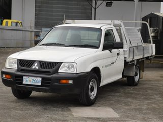 2005 Mitsubishi Triton MK MY05 GLX Club Cab 4x2 White 5 Speed Manual Utility.