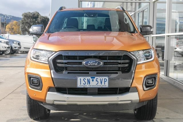 Used Ford Ranger PX MkIII 2020.75MY Wildtrak Ferntree Gully, 2020 Ford Ranger PX MkIII 2020.75MY Wildtrak Orange 10 Speed Sports Automatic Double Cab Pick Up