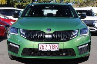 2017 Skoda Octavia NE MY18 RS DSG 169TSI Green 6 Speed Sports Automatic Dual Clutch Wagon.