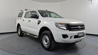 2015 Ford Ranger PX XL 2.2 Hi-Rider (4x2) White 6 Speed Automatic Crew Cab Chassis.